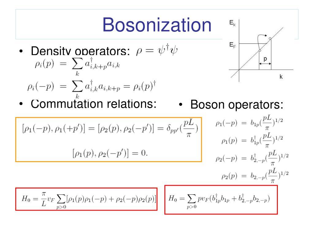 Density operators: