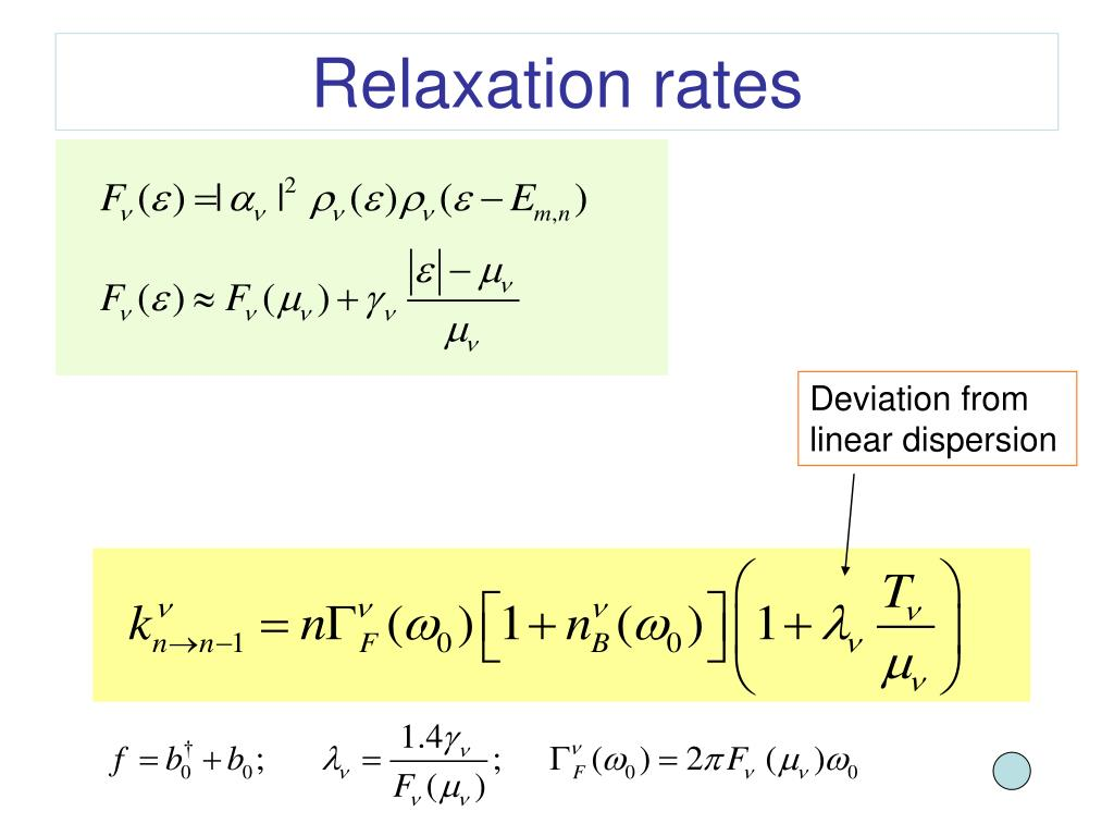Relaxation rates