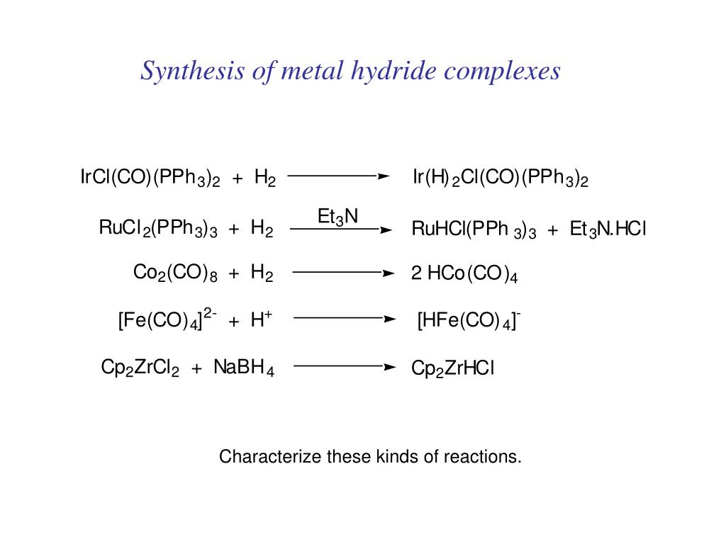 Synthesis of metal hydride complexes