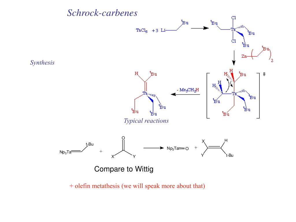 Schrock-carbenes