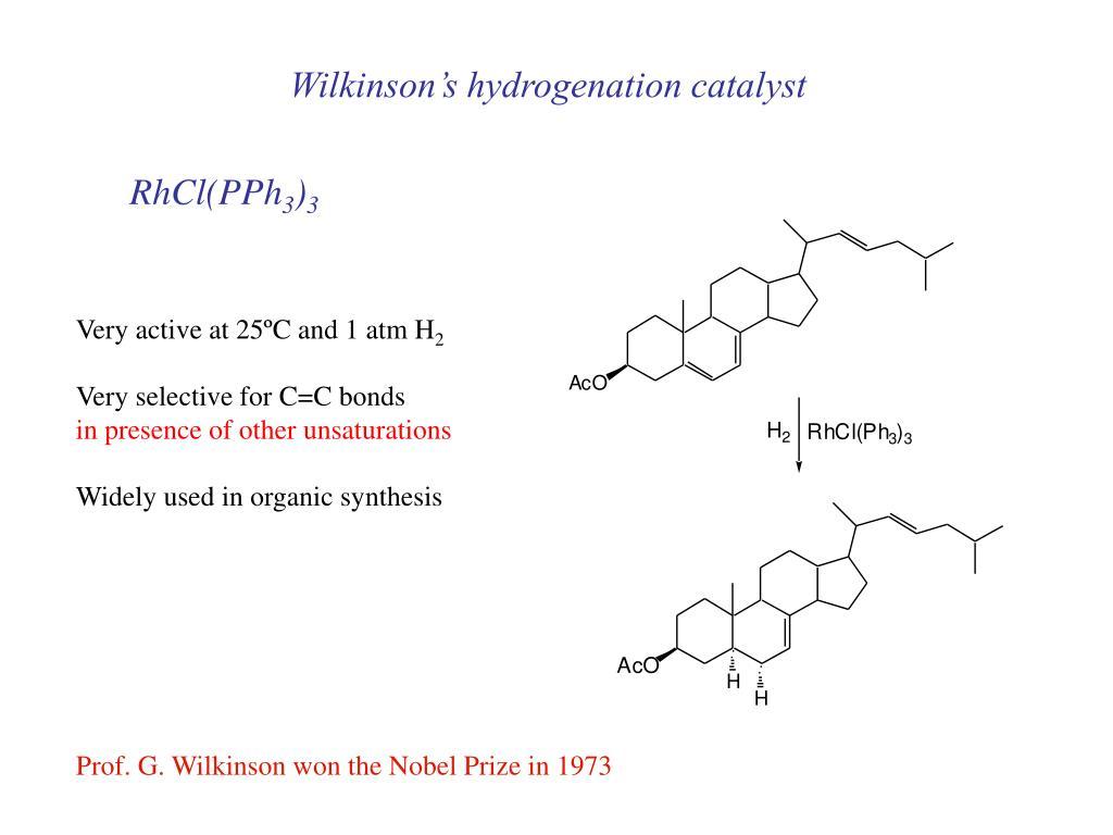 Wilkinson's hydrogenation catalyst