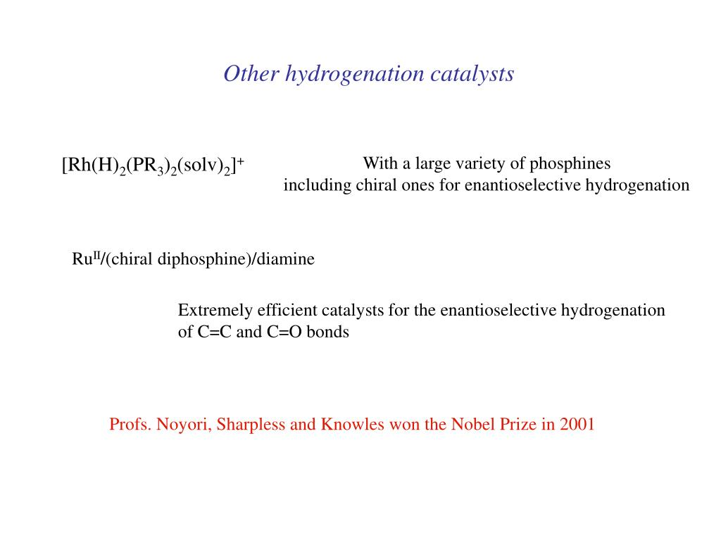 Other hydrogenation catalysts