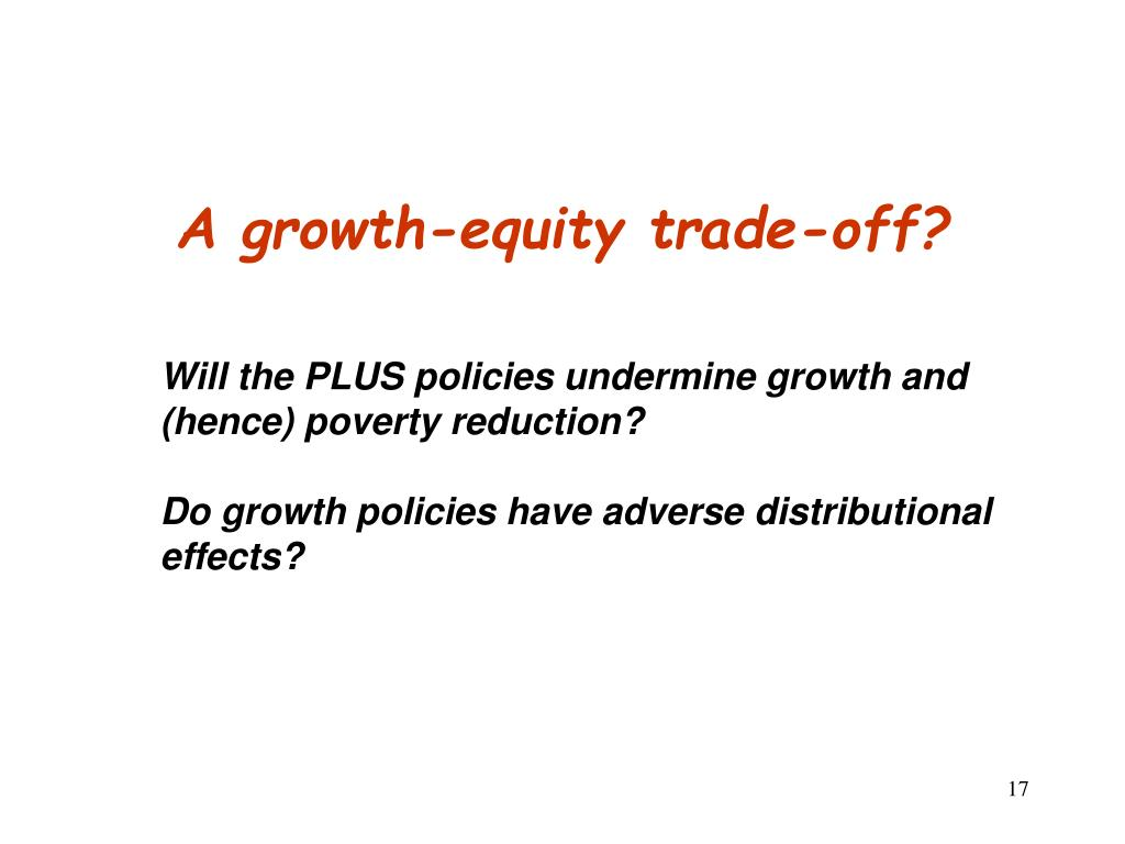A growth-equity trade-off?