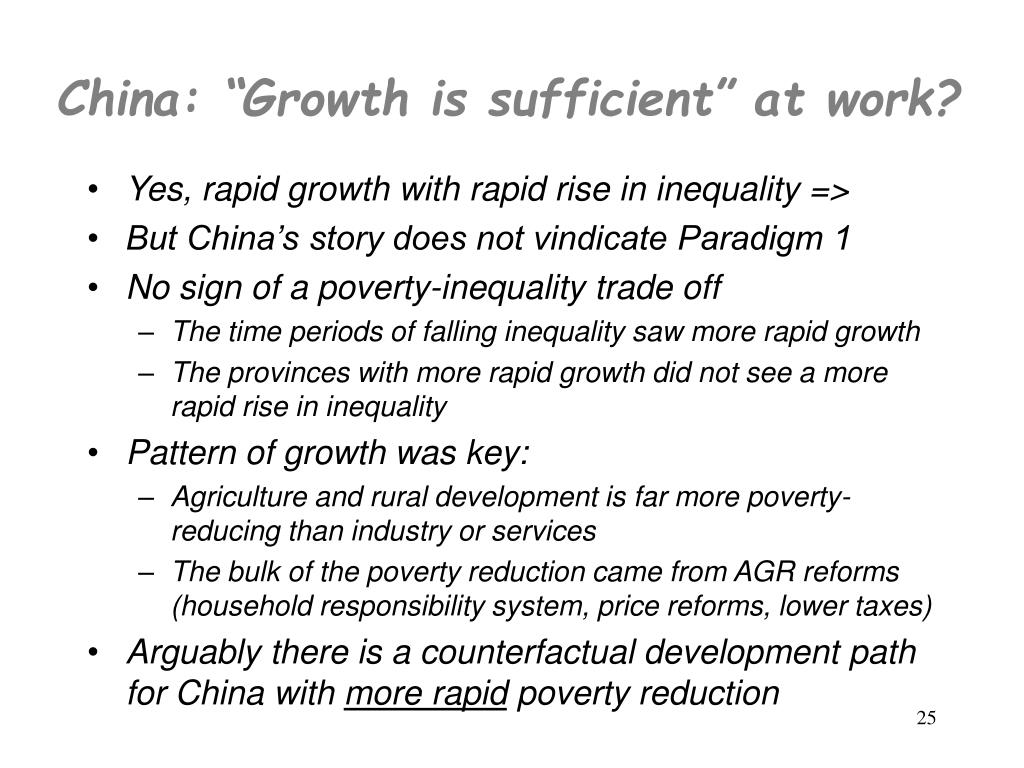 "China: ""Growth is sufficient"" at work?"