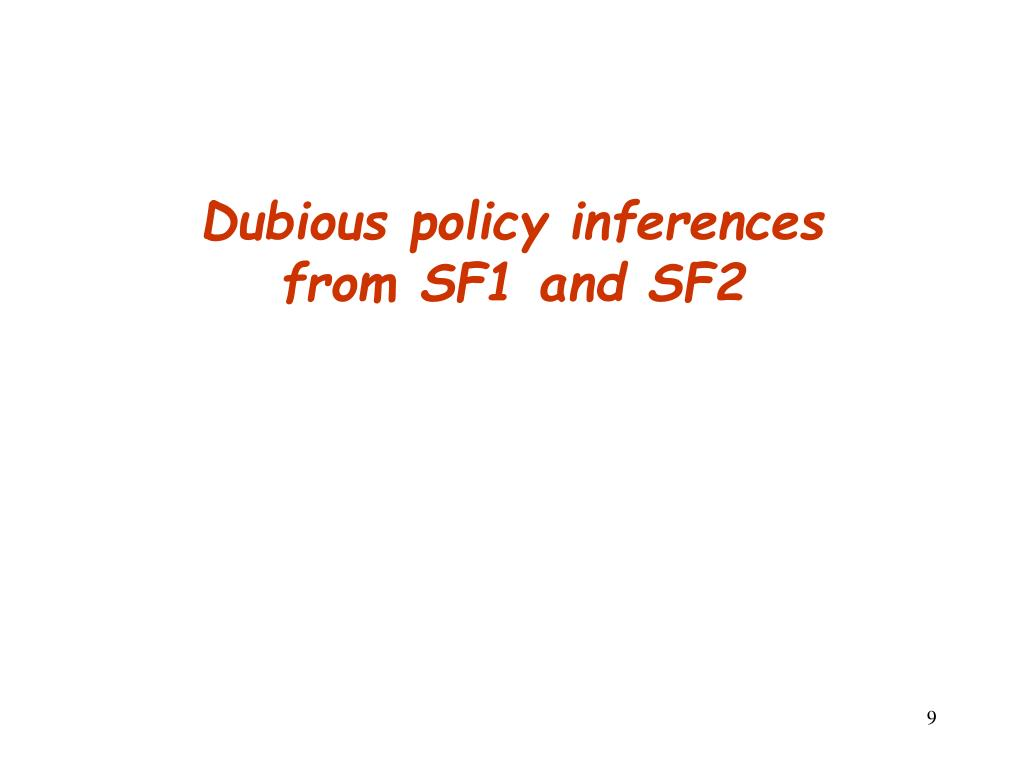 Dubious policy inferences