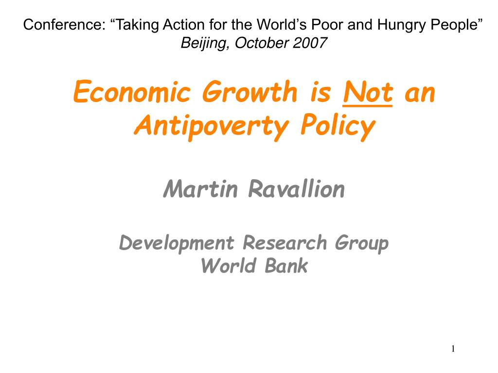 "Conference: ""Taking Action for the World's Poor and Hungry People"""