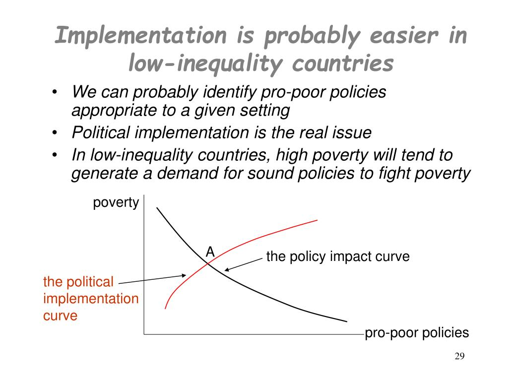 Implementation is probably easier in low-inequality countries