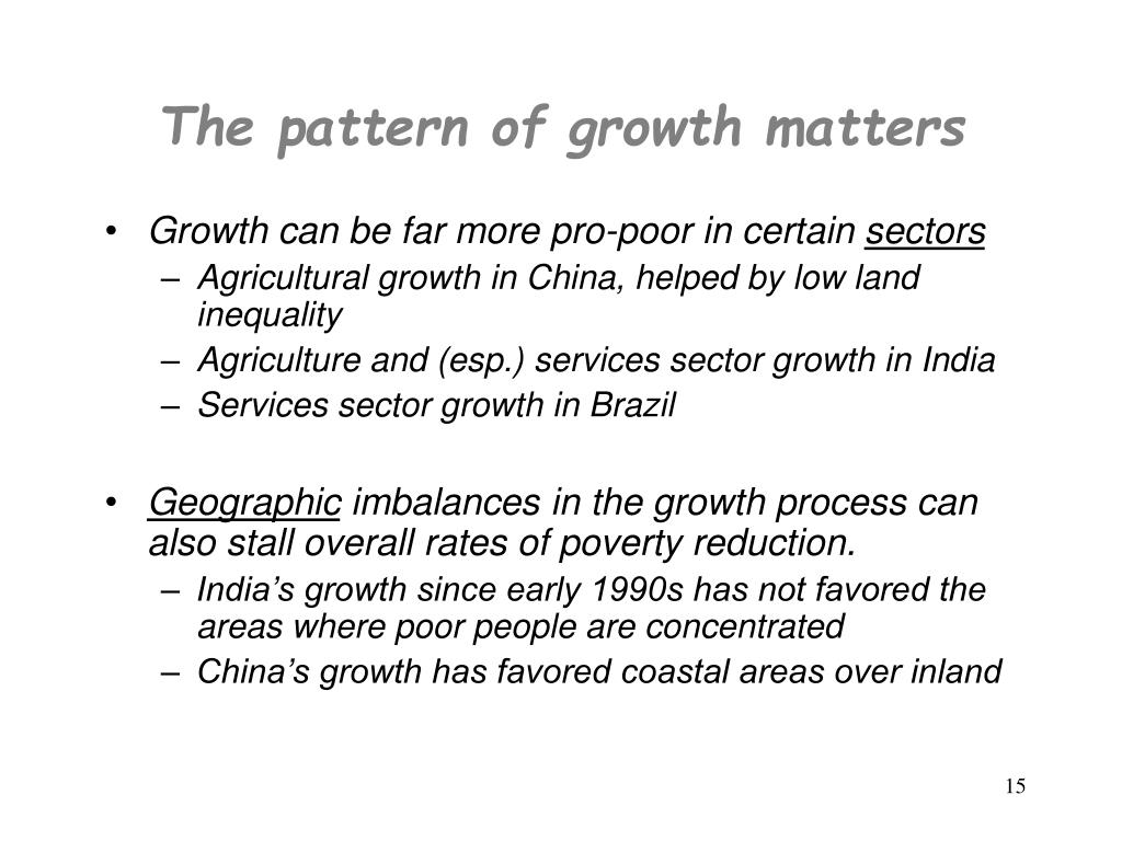 The pattern of growth matters