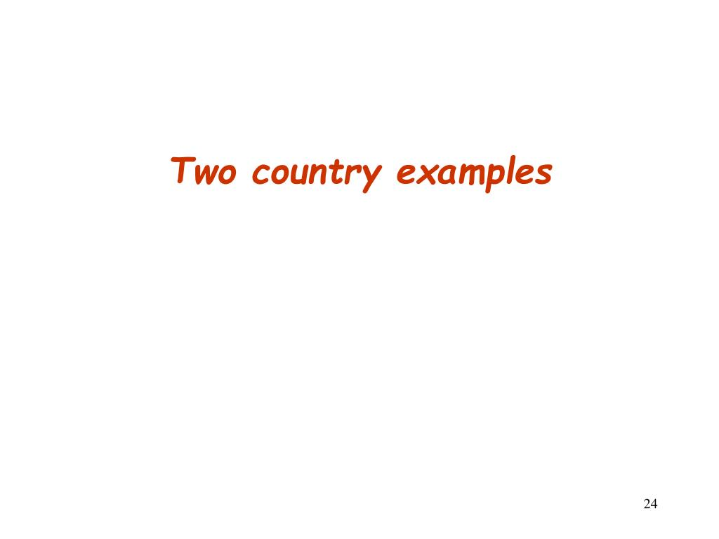 Two country examples
