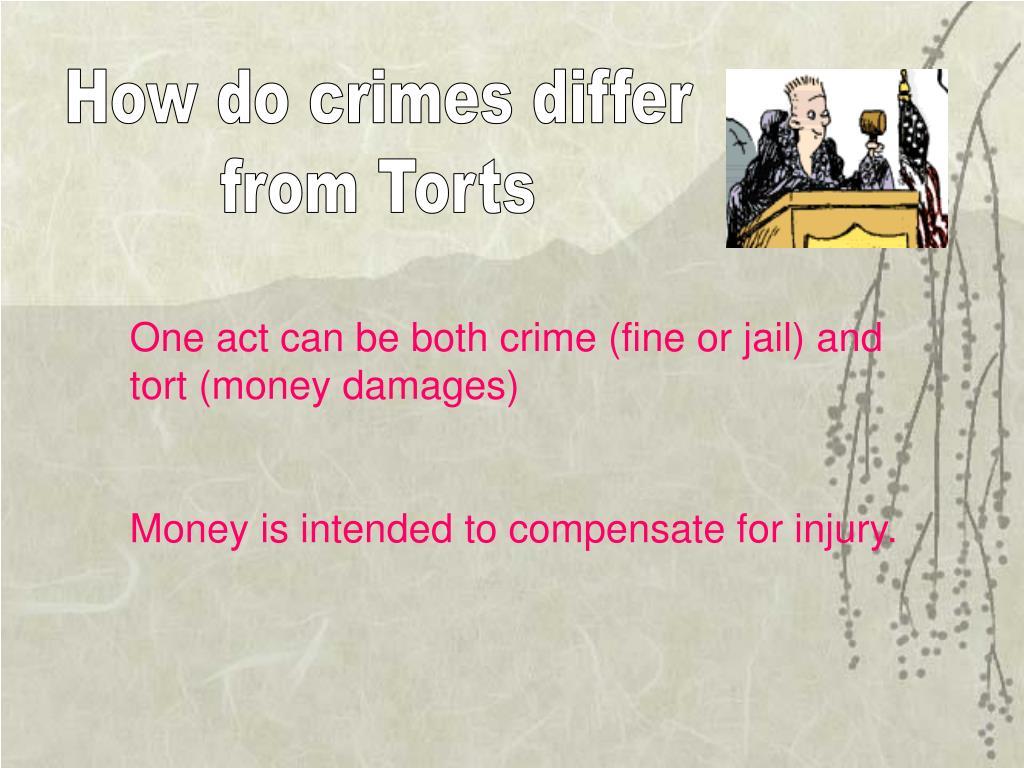 How do crimes differ