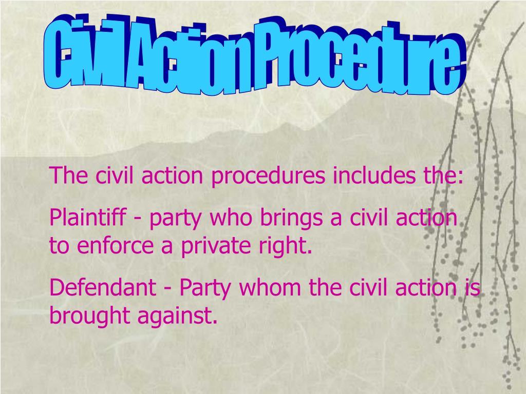Civil Action Procedure