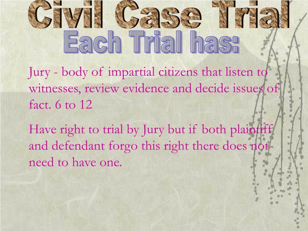 Civil Case Trial