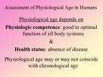 assessment of physiological age in humans