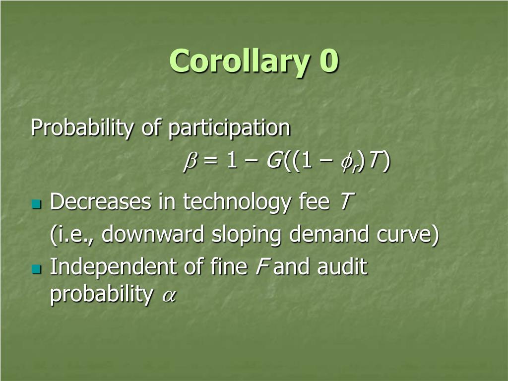 Corollary 0