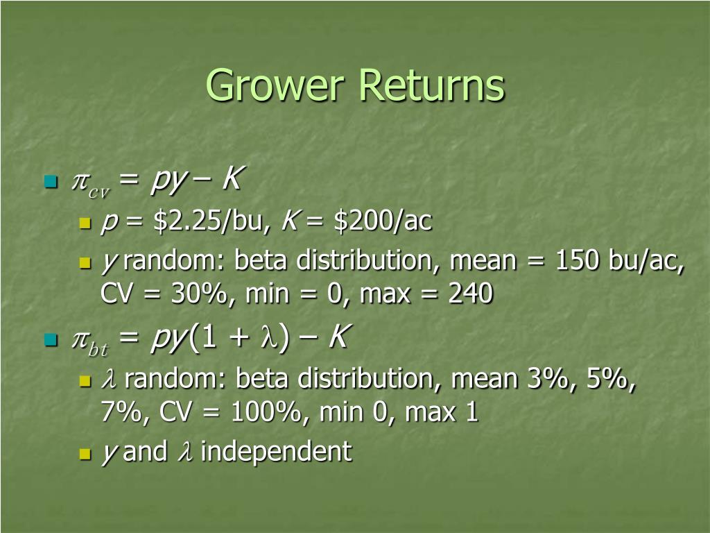 Grower Returns