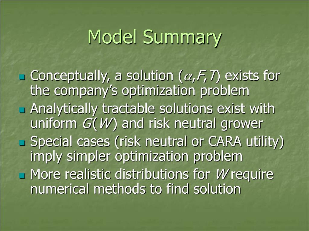 Model Summary