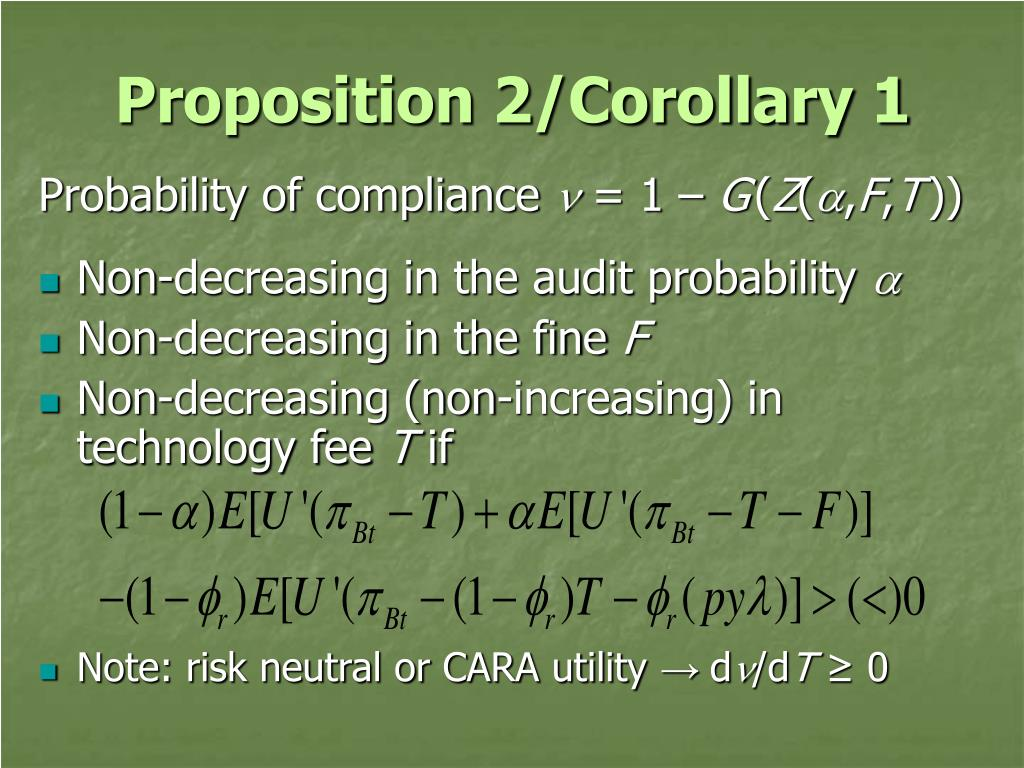 Proposition 2/Corollary 1
