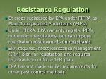 resistance regulation