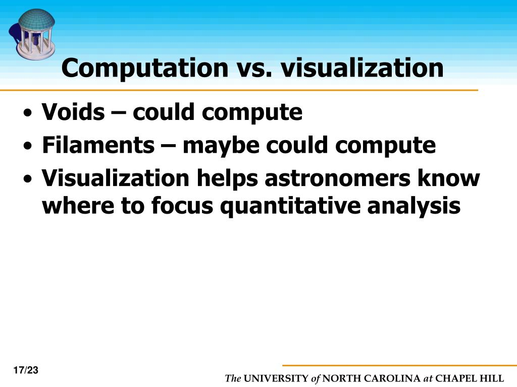 Computation vs. visualization