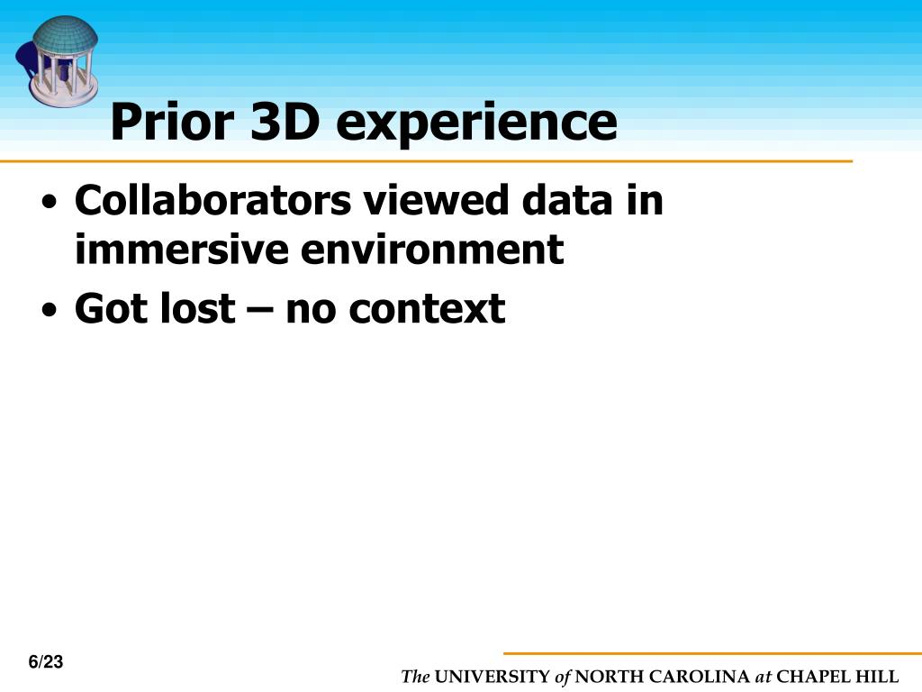 Prior 3D experience