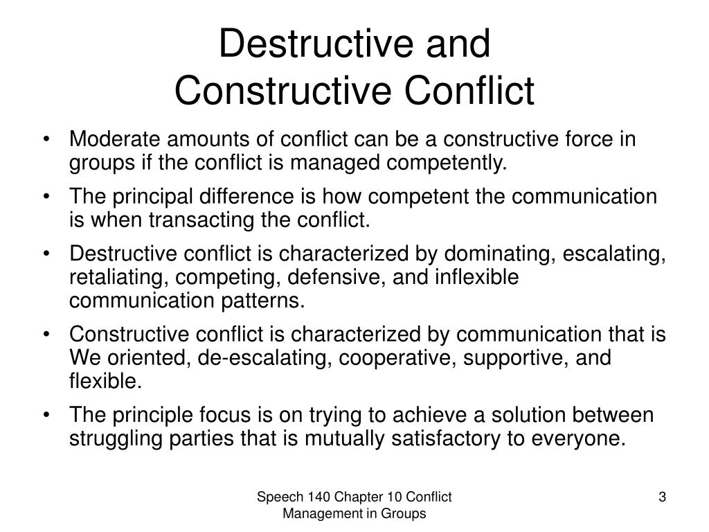 conflict can be a destructive force Diversity of background, experience, drives and style within an organization can be a powerful force however, these same differences can also lead to friction and.