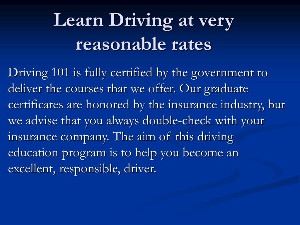 Learn Driving at very reasonable rates