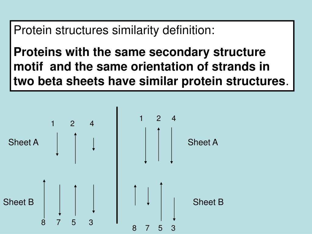 Protein structures similarity definition: