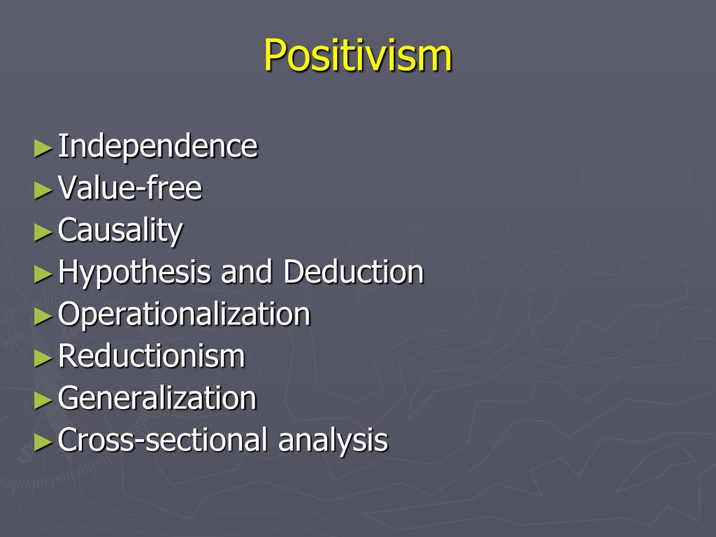 individual positivism Each of the individual sciences has unique features and, just like social based on relationships among empirical facts his development of positivism not only interested j s mill but also influenced the devel-opment of twentieth century logical positive philosophy by august comte 4.