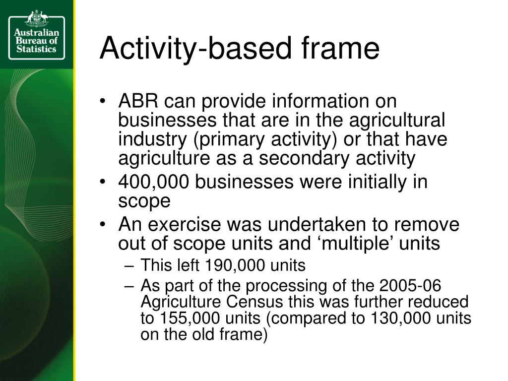 Activity-based frame