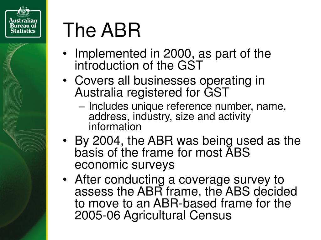 The ABR