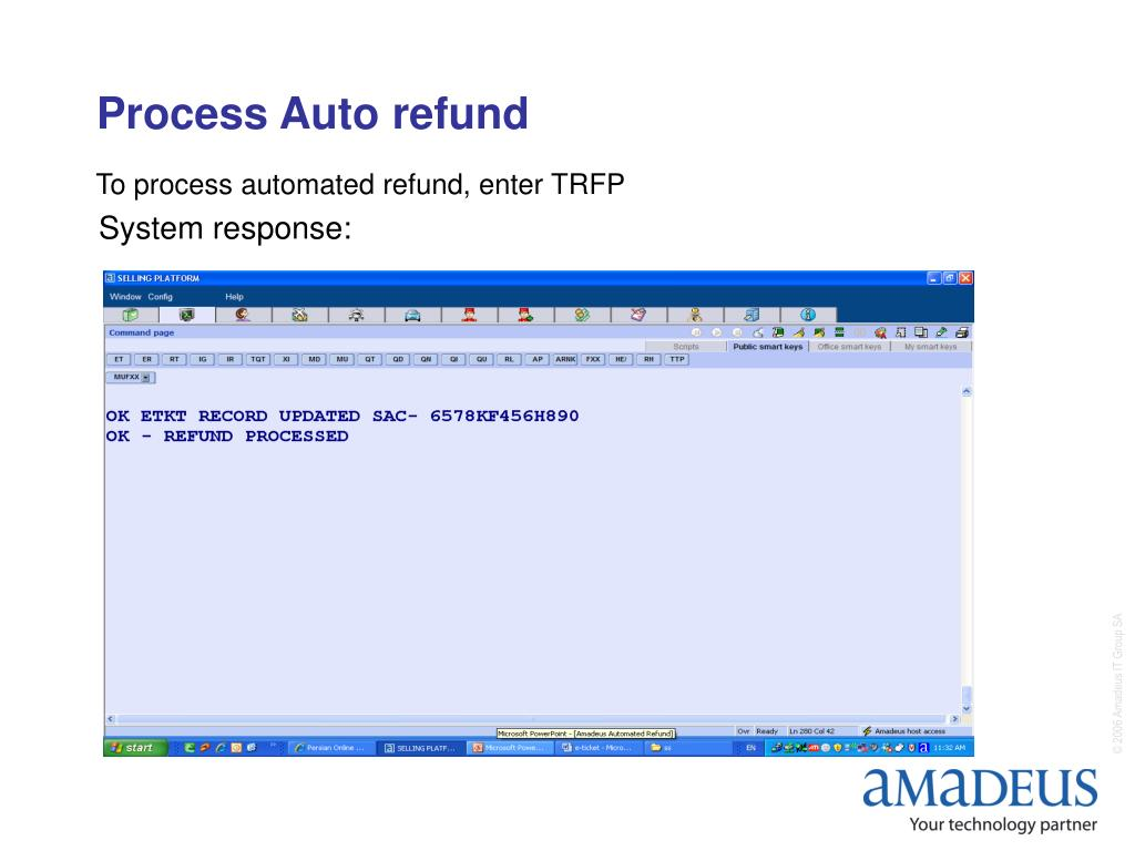 Process Auto refund