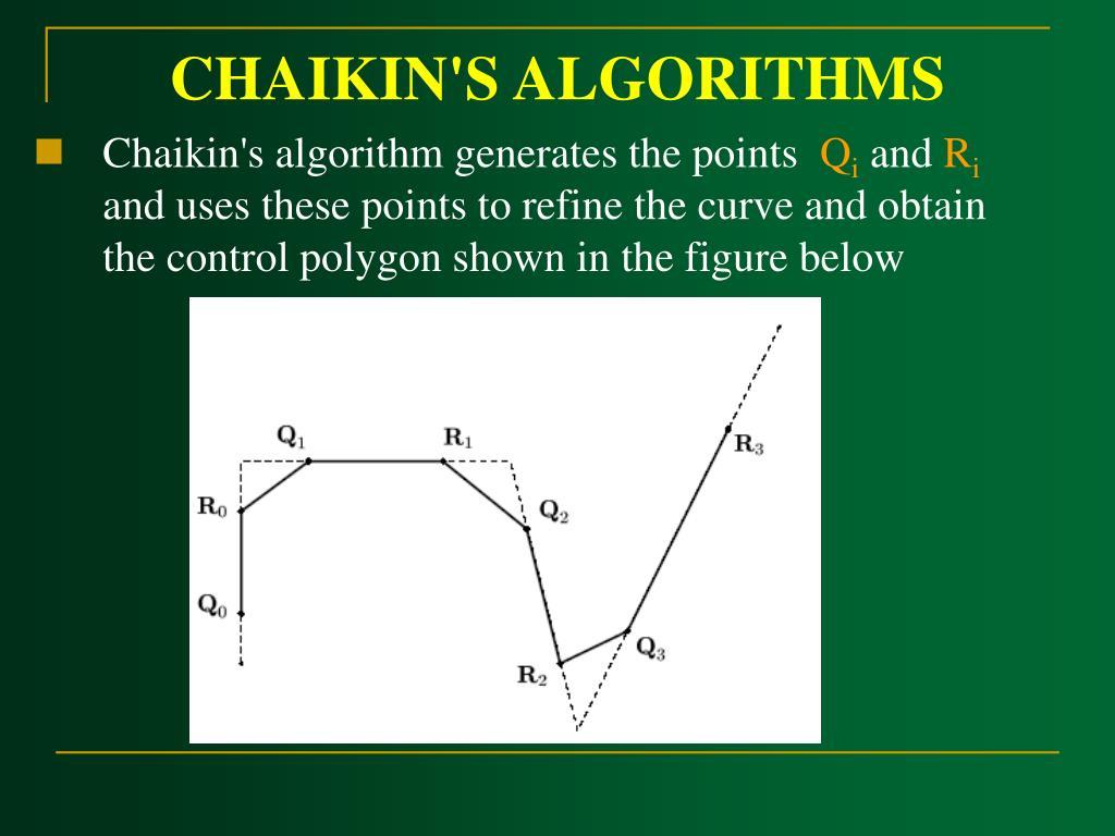 CHAIKIN'S ALGORITHMS