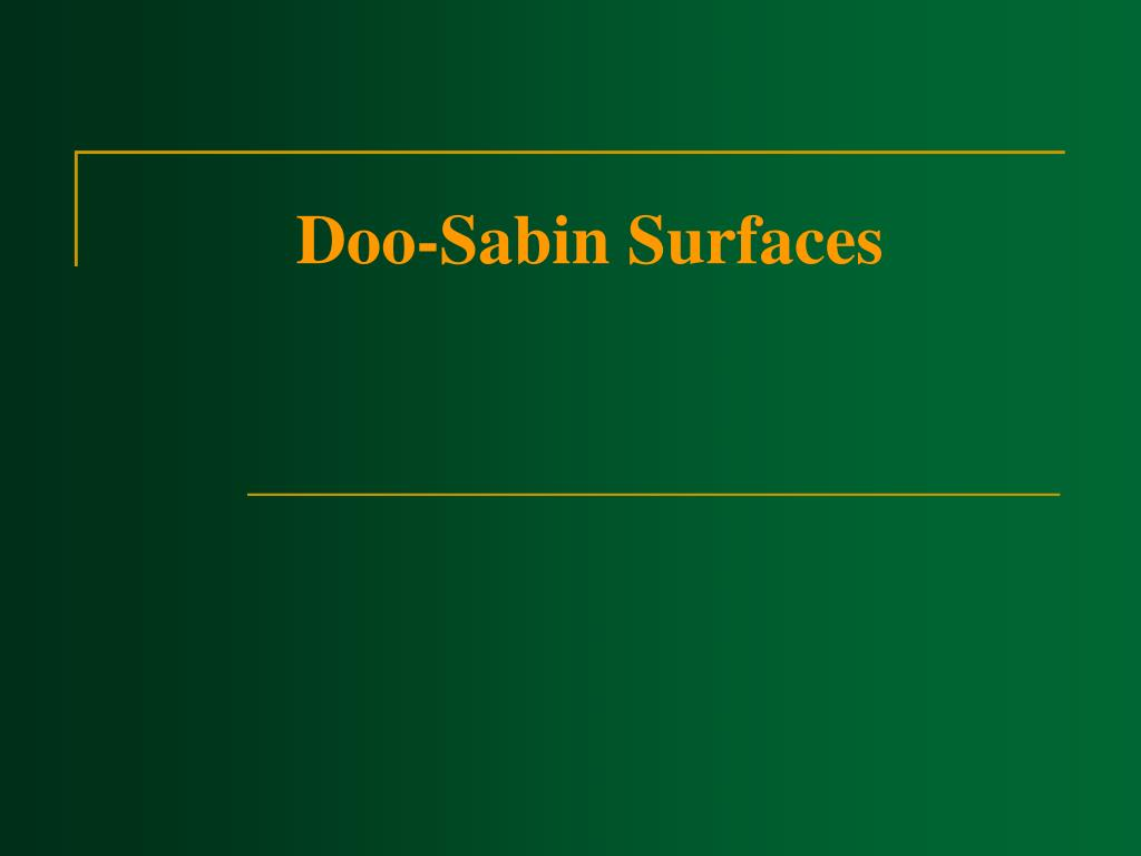 Doo-Sabin Surfaces