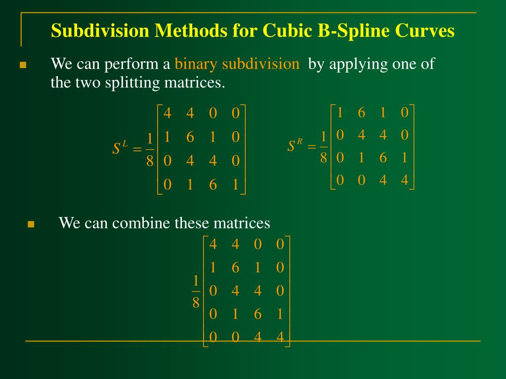 Subdivision Methods for Cubic B-Spline Curves