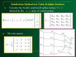 subdivision methods for cubic b spline surfaces58