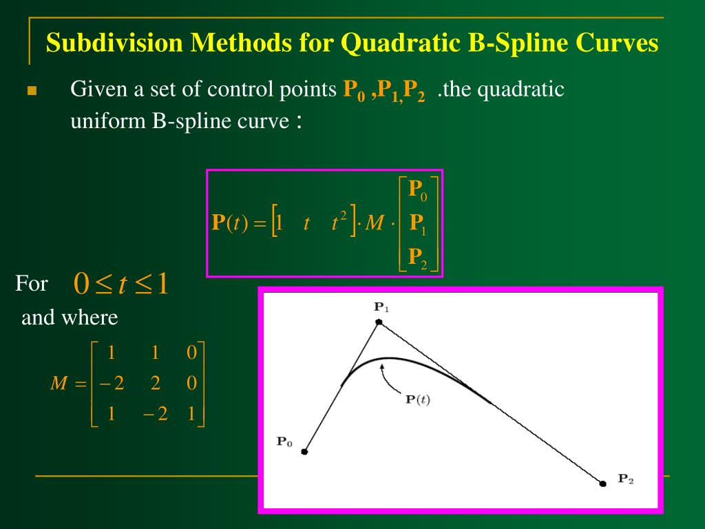 Subdivision Methods for Quadratic B-Spline Curves