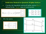 subdivision methods for quadratic b spline surfaces42