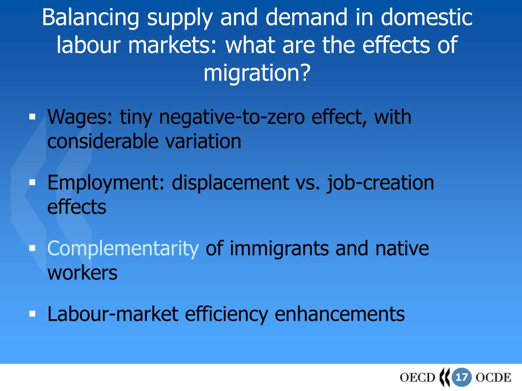 Balancing supply and demand in domestic labour markets: what are the effects of migration?