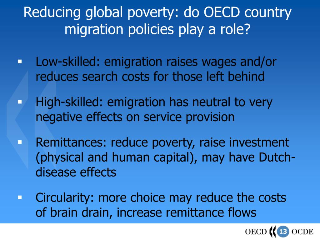 Reducing global poverty: do OECD country migration policies play a role?