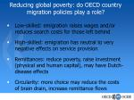 reducing global poverty do oecd country migration policies play a role