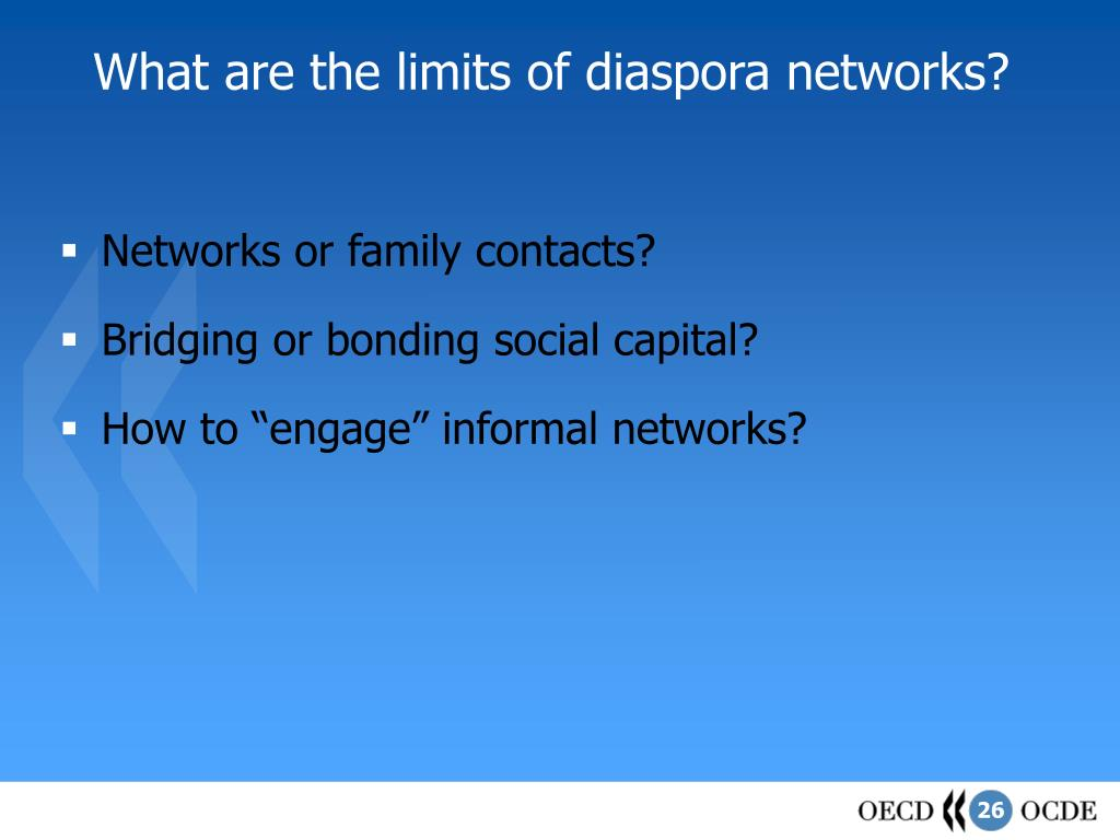 What are the limits of diaspora networks?