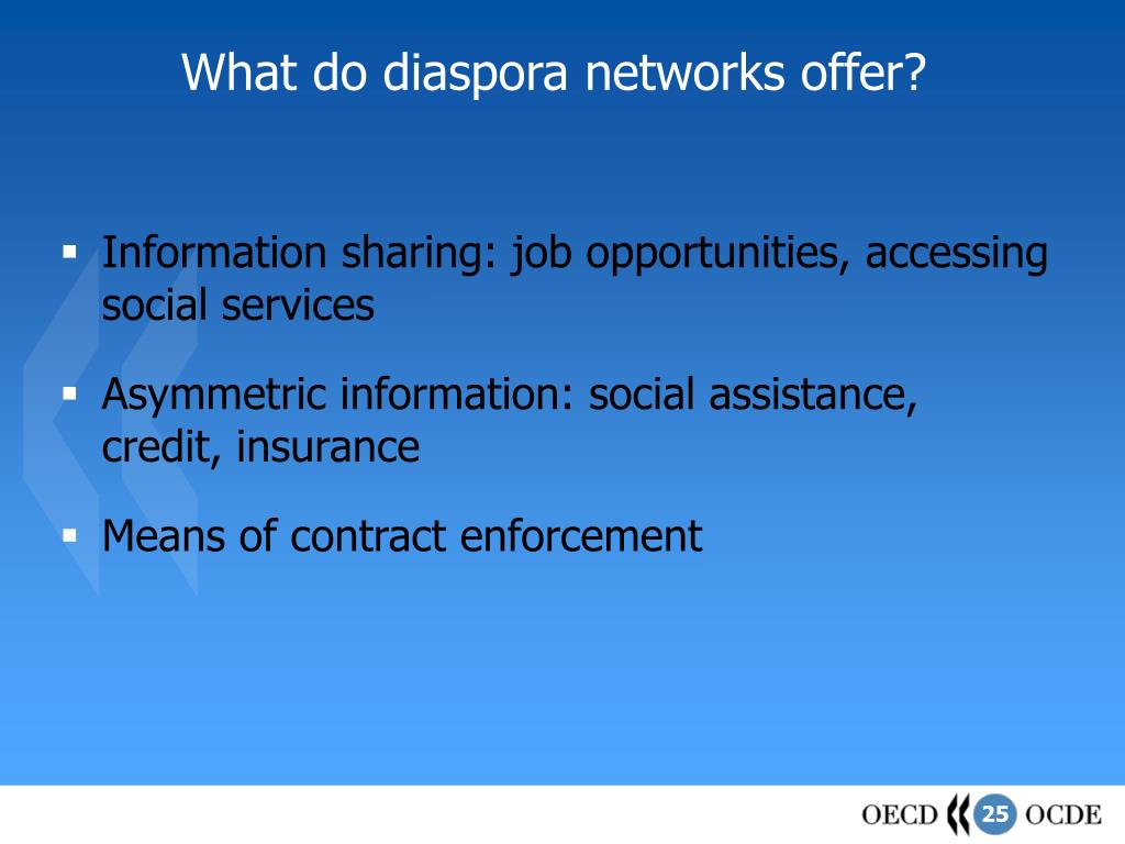 What do diaspora networks offer?