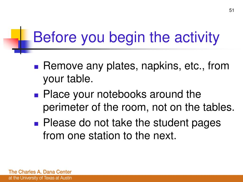 Before you begin the activity