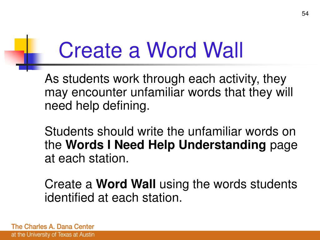 Create a Word Wall