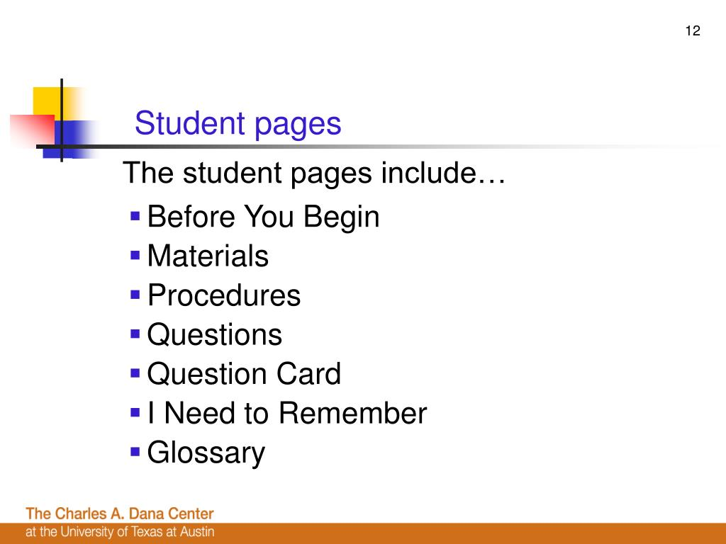 Student pages