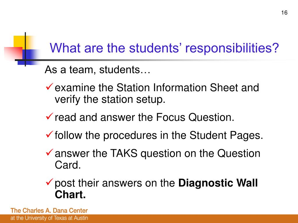 What are the students' responsibilities?