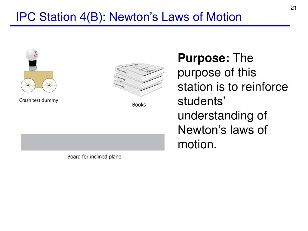 IPC Station 4(B): Newton's Laws of Motion