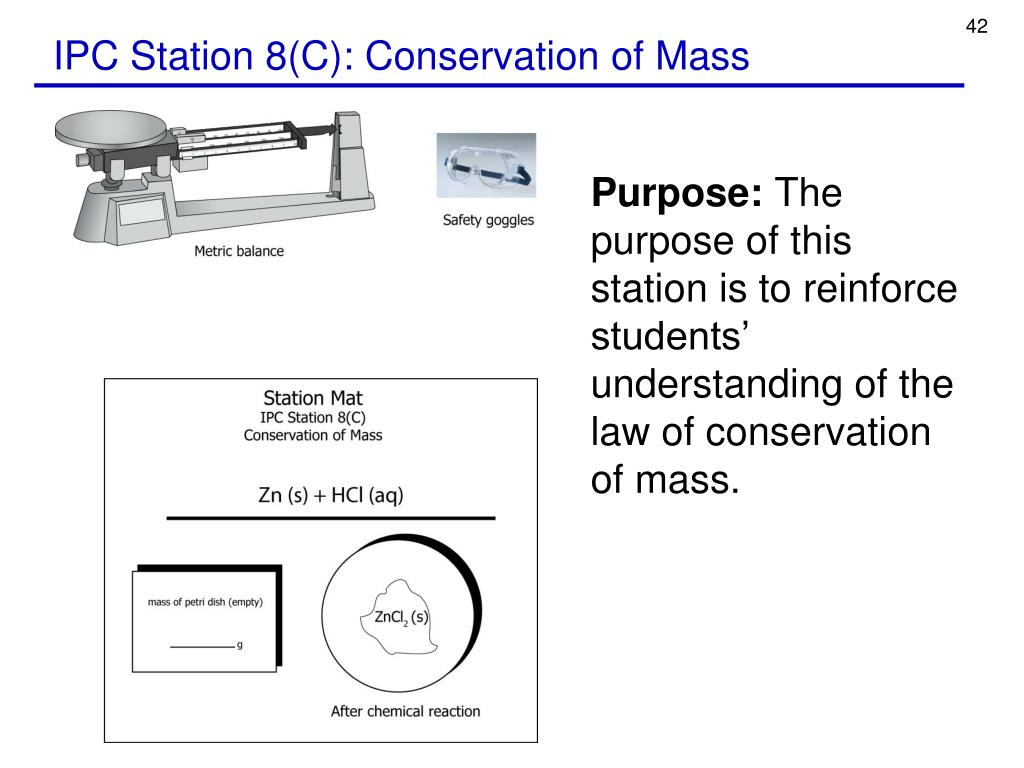 IPC Station 8(C): Conservation of Mass