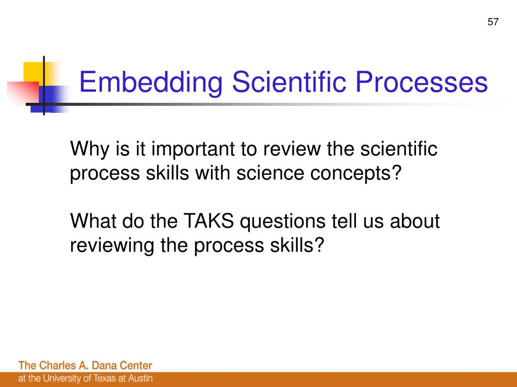 Embedding Scientific Processes