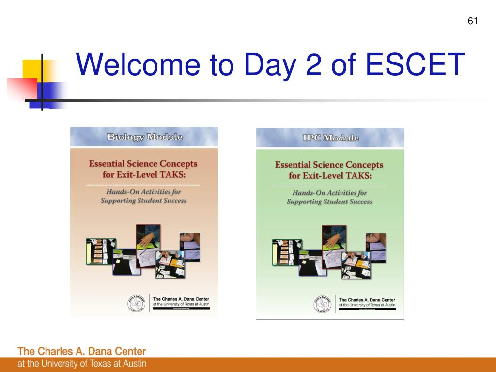 Welcome to Day 2 of ESCET